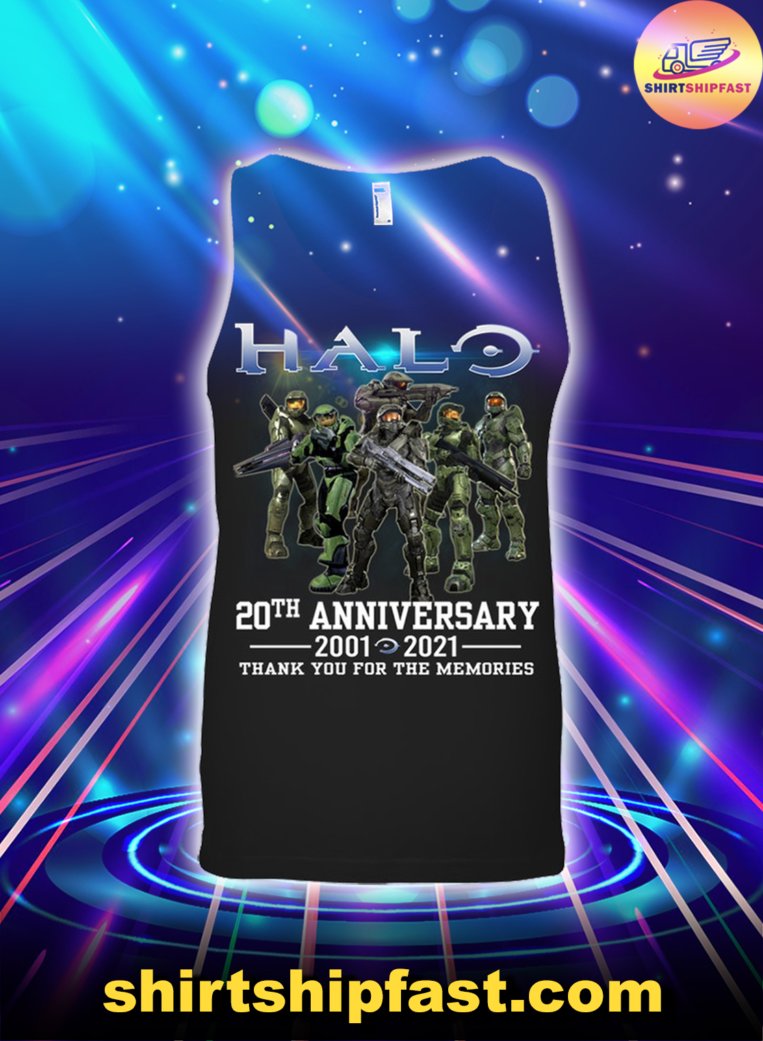 Halo 20th anniversary thank you for the memories tank top