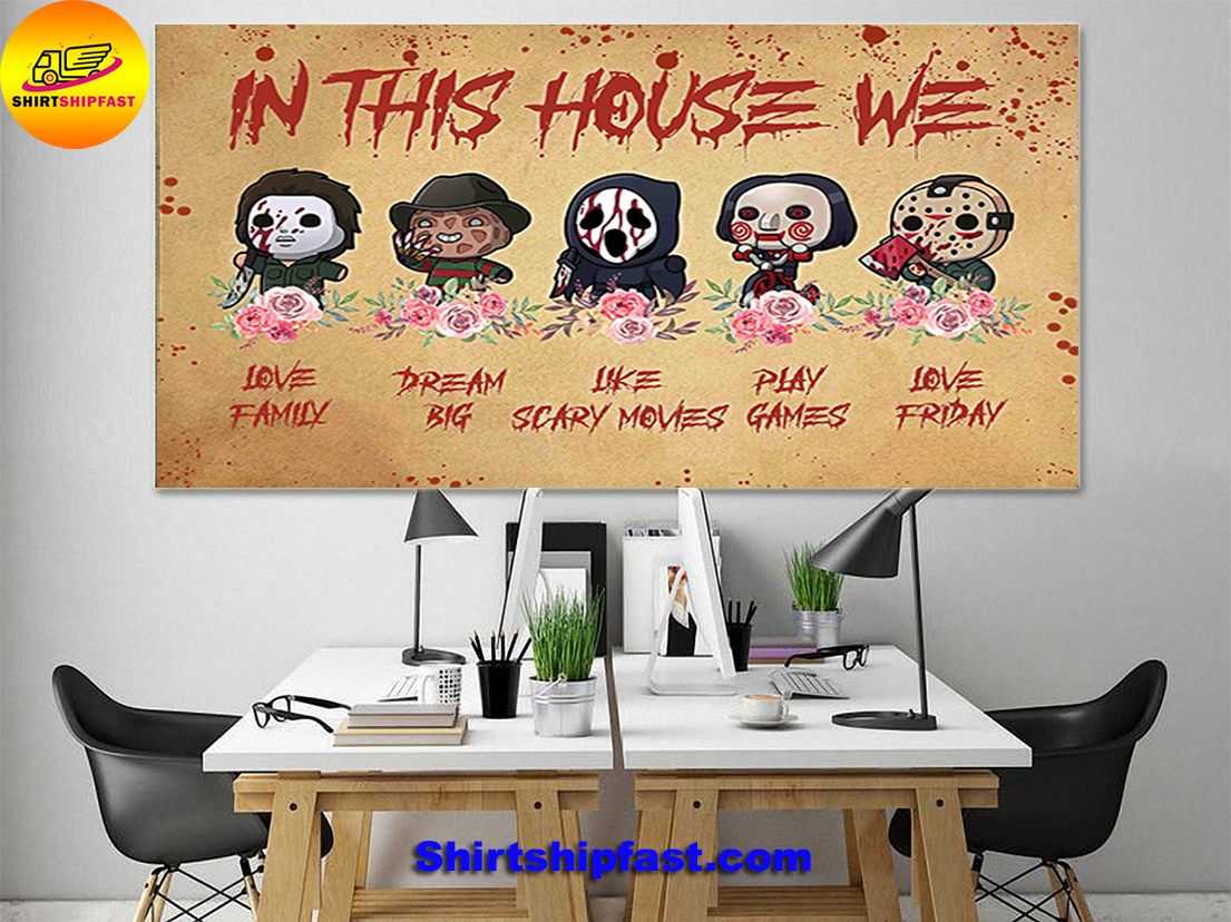 Horror movies chibi in this house we poster - Picture 1