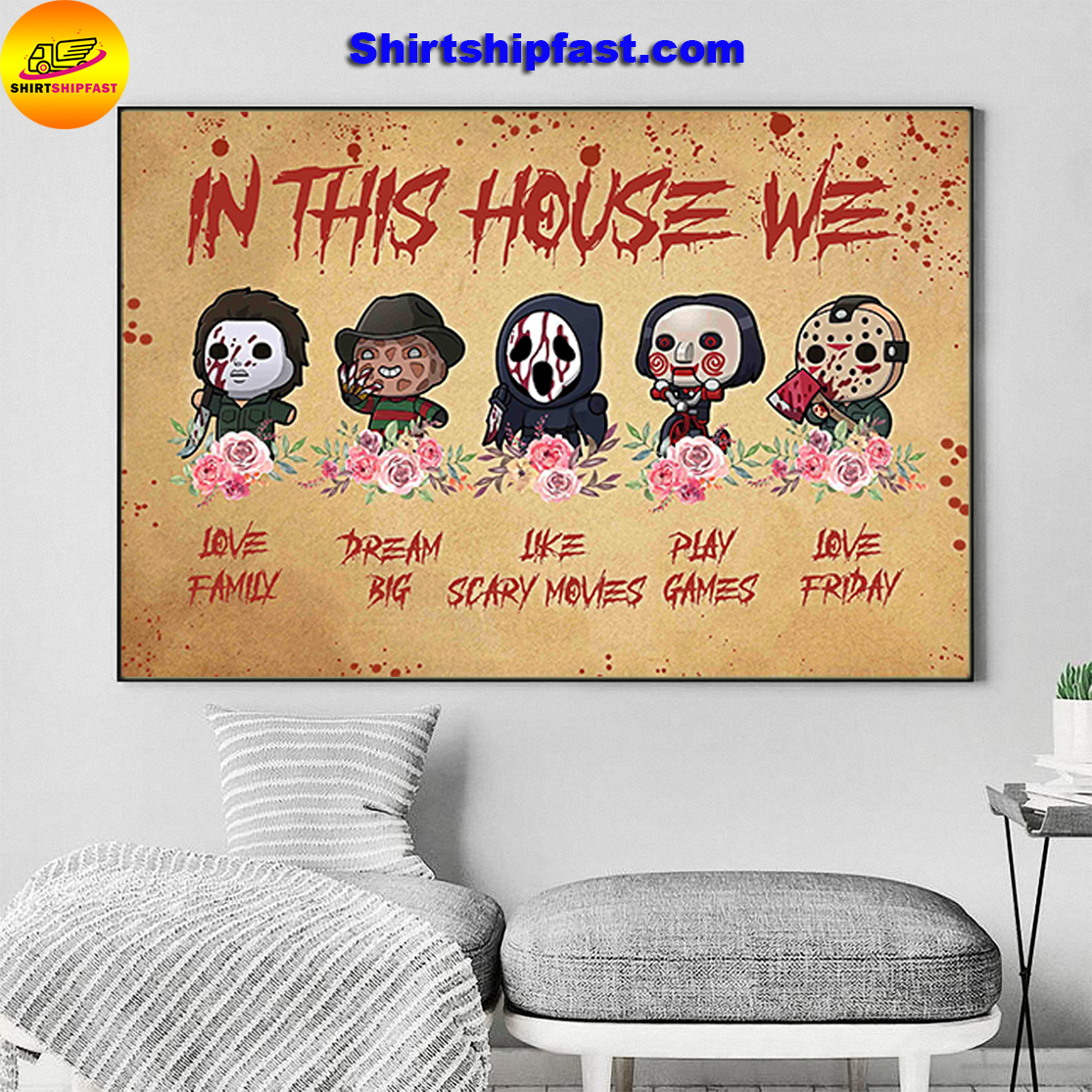 Horror movies chibi in this house we poster - Picture 3