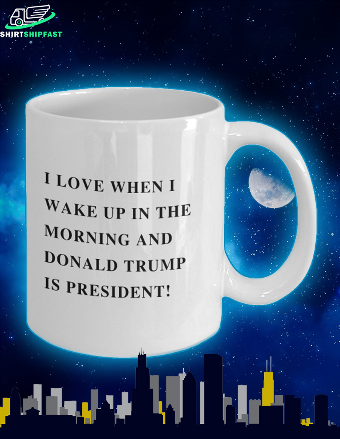 I love when I wake up in the morning and Donald Trump is president mug - Picture 2