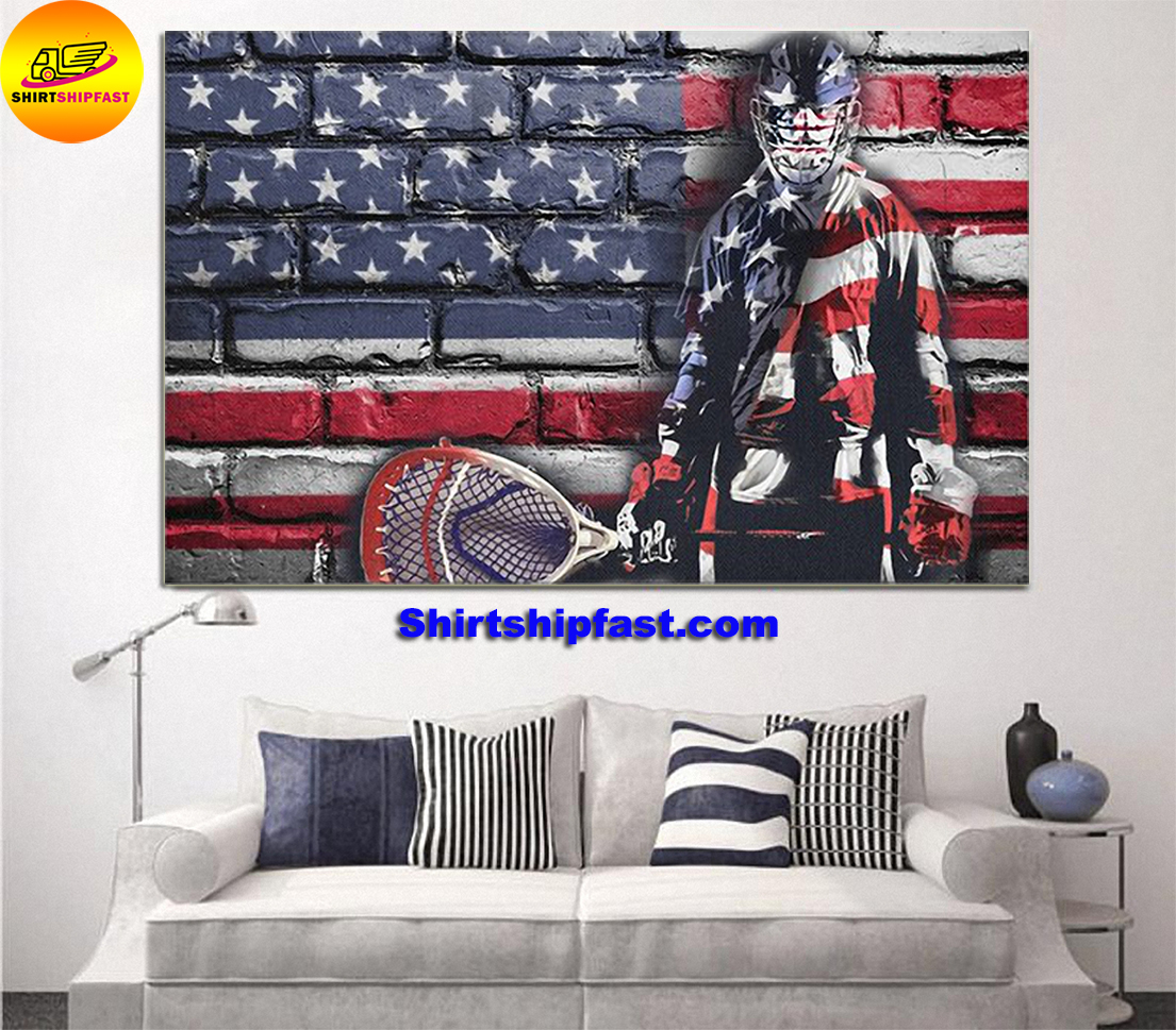 Ice hookey goalie flag poster and canvas - Picture 1