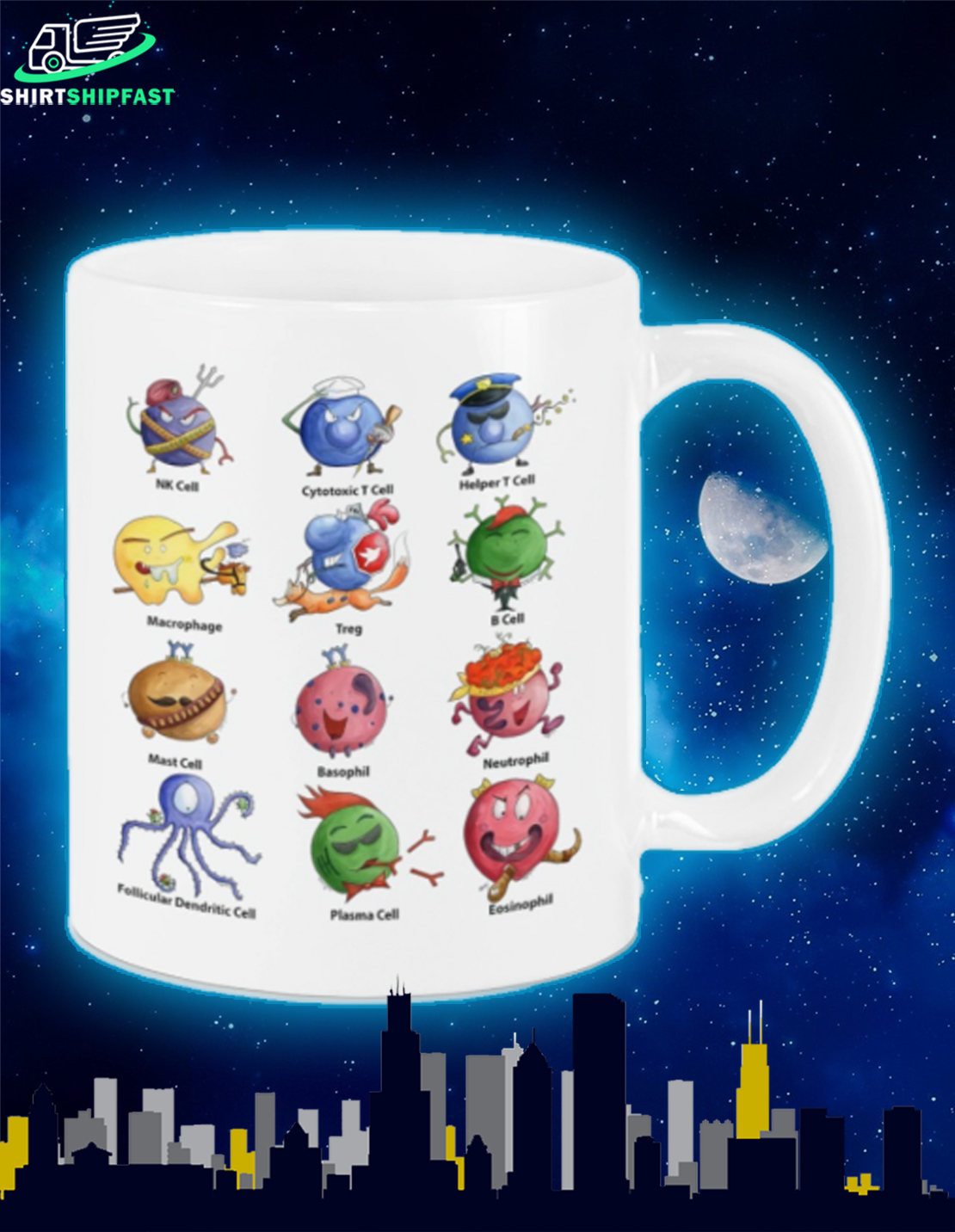 Immunology cell mug - Picture 1