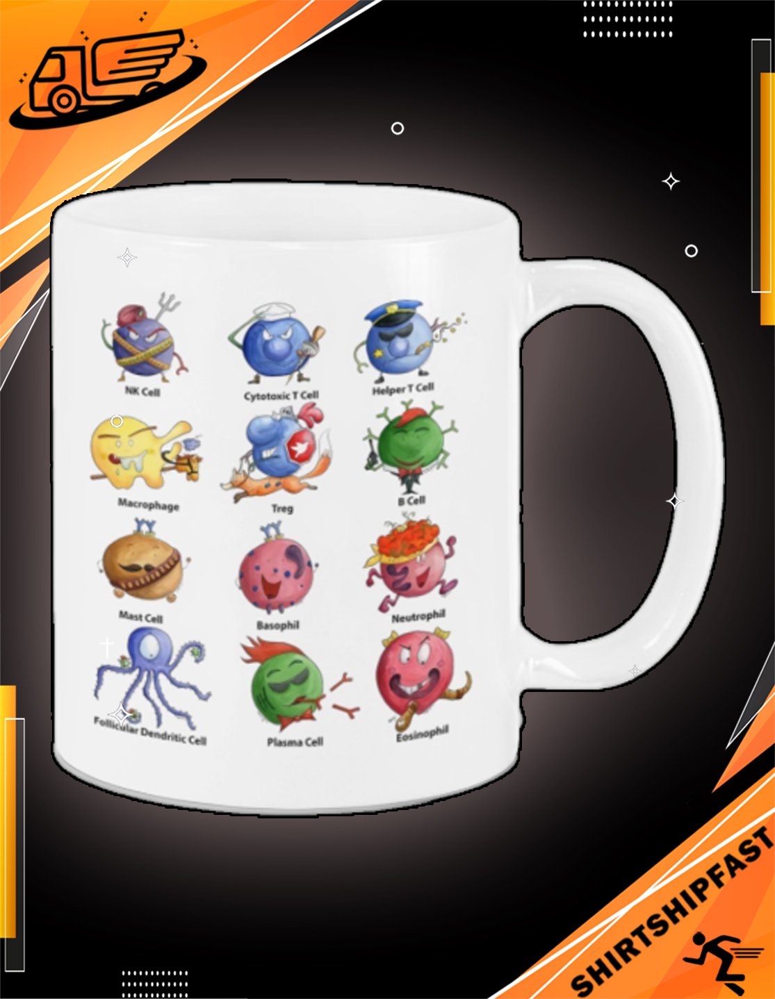 Immunology cell mug - Picture 2