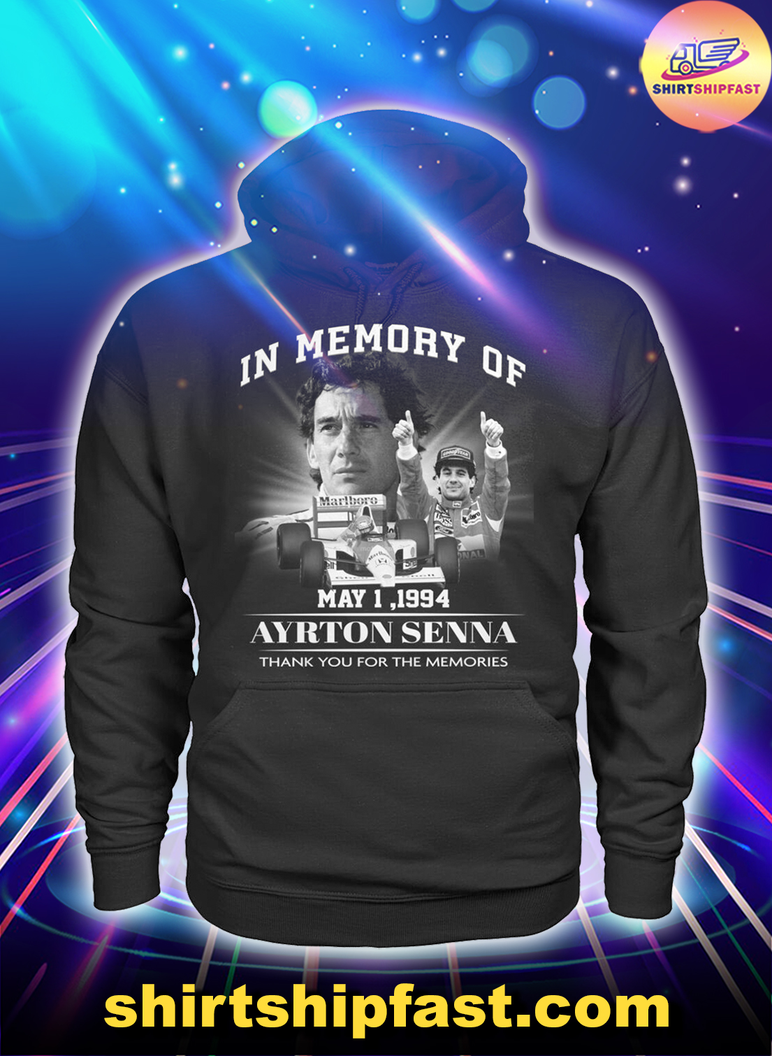 In memory of May 1 1994 Ayrton Senna thank you for the memories hoodie
