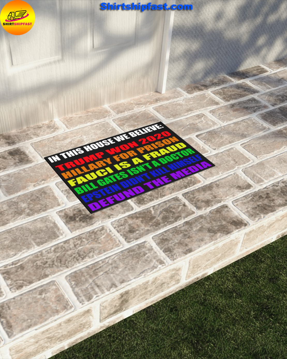 In this house we believe Trump won 2020 Hillary for prison doormat - Picture 2