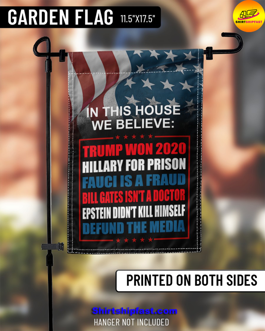 In this house we believe Trump won 2020 Hillary for prison flag - Picture 1