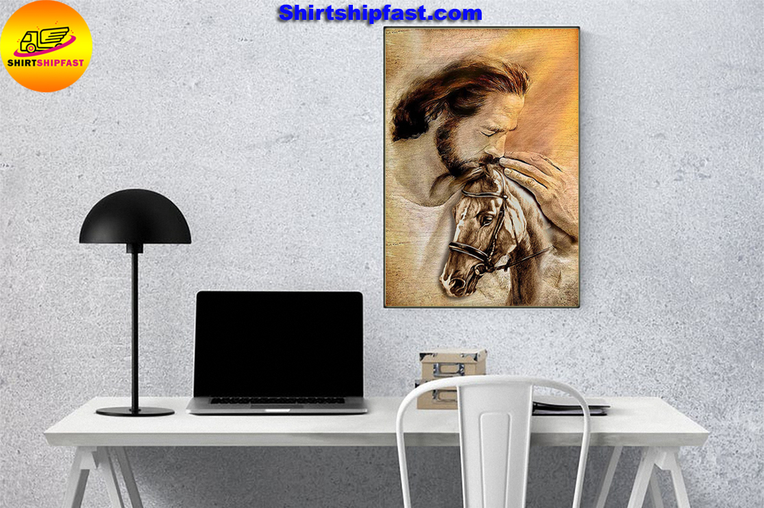 Jesus with lovely horse poster - Picture 3