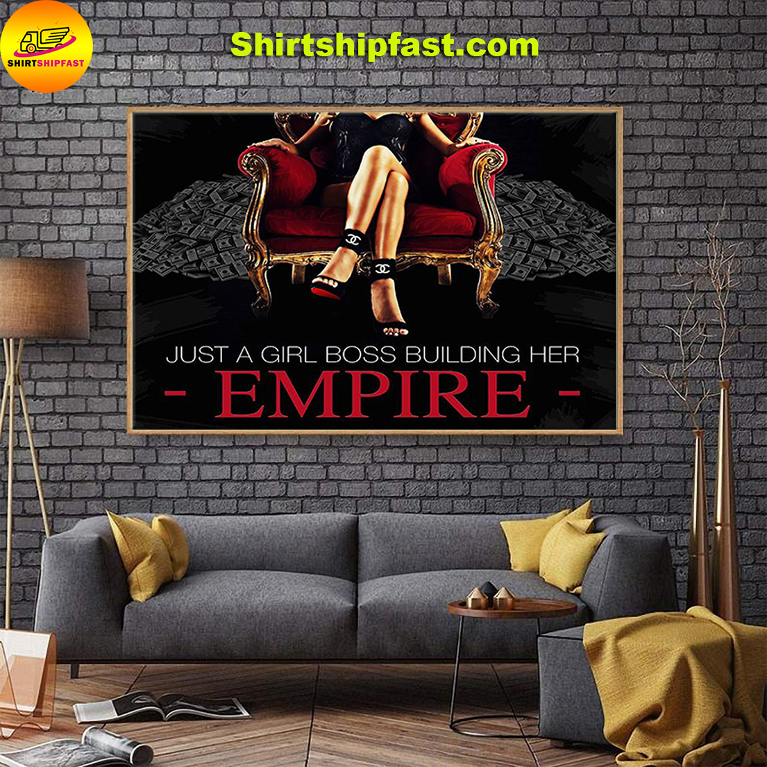 Just a girl boss building her empire poster - Picture 1