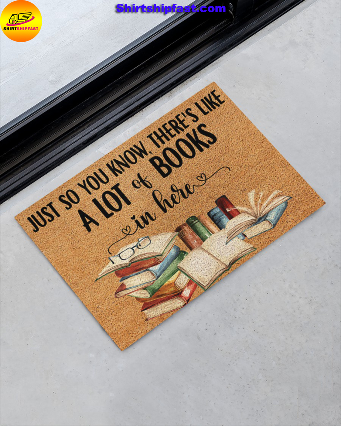 Just so you know there's like a lot books in here doormat - Picture 1