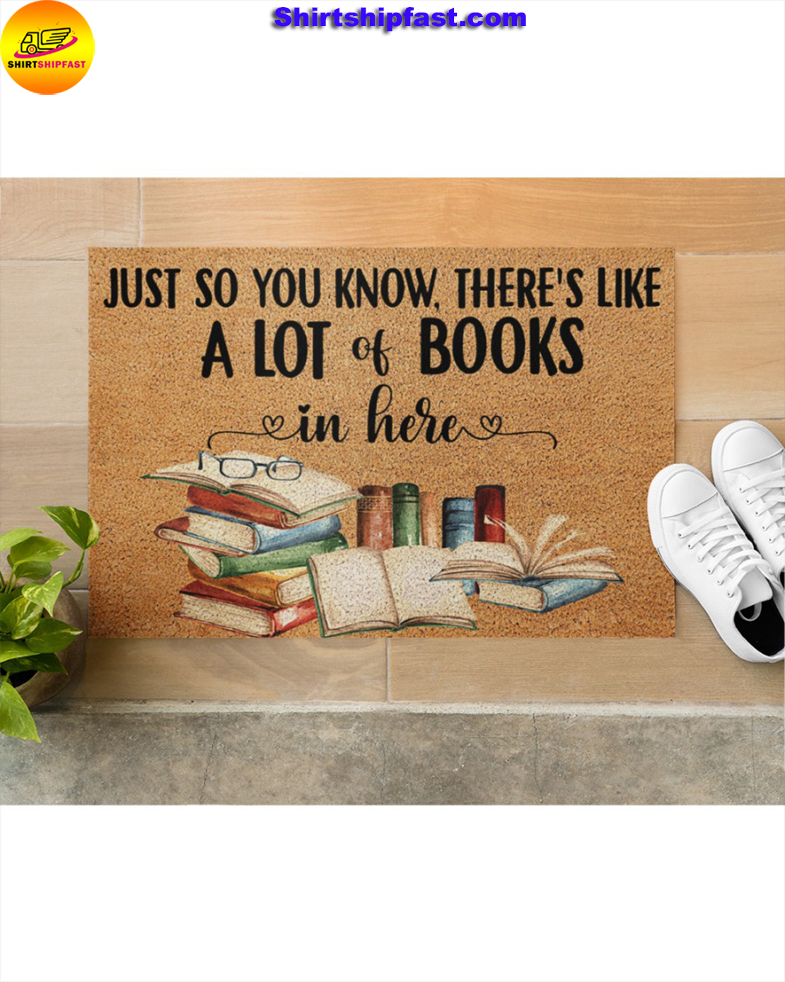 Just so you know there's like a lot books in here doormat - Picture 2