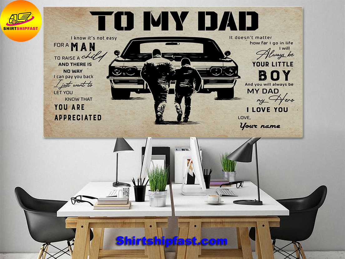 Muscle Car To my dad personalized custom name poster - Picture 1