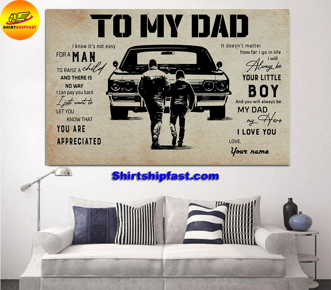 Muscle Car To my dad personalized custom name poster - Picture 2