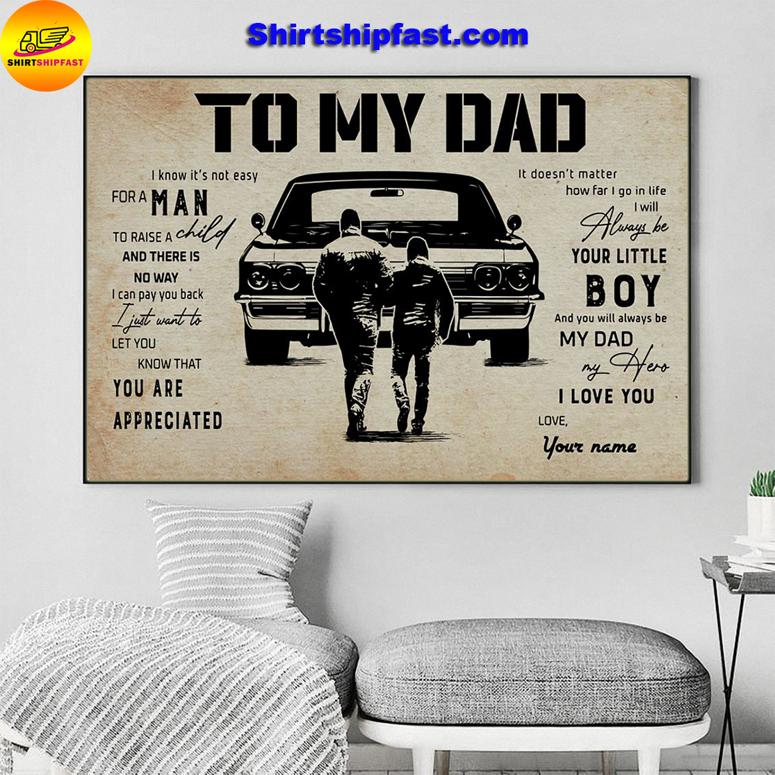 Muscle Car To my dad personalized custom name poster - Picture 3