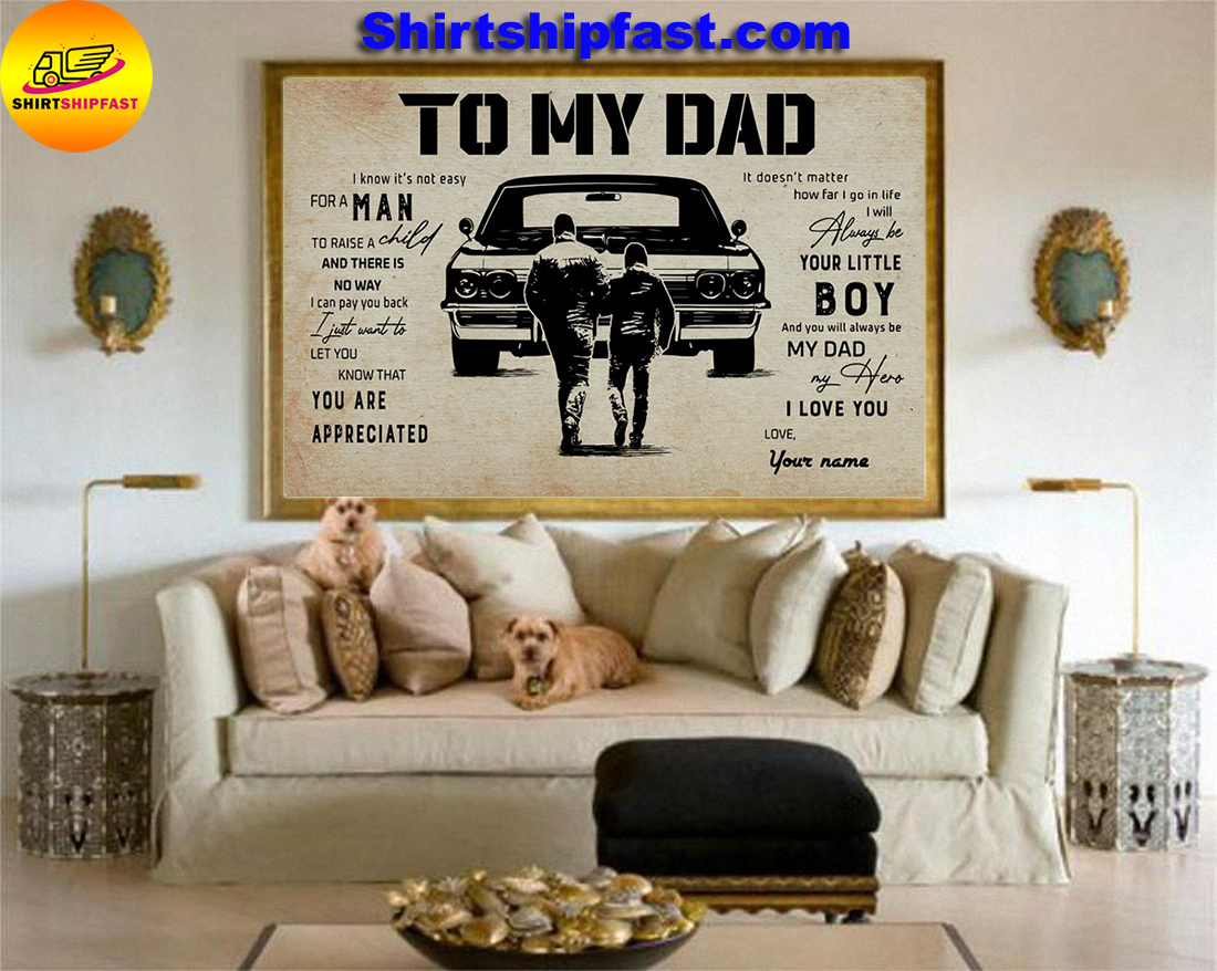 Muscle Car To my dad personalized custom name poster
