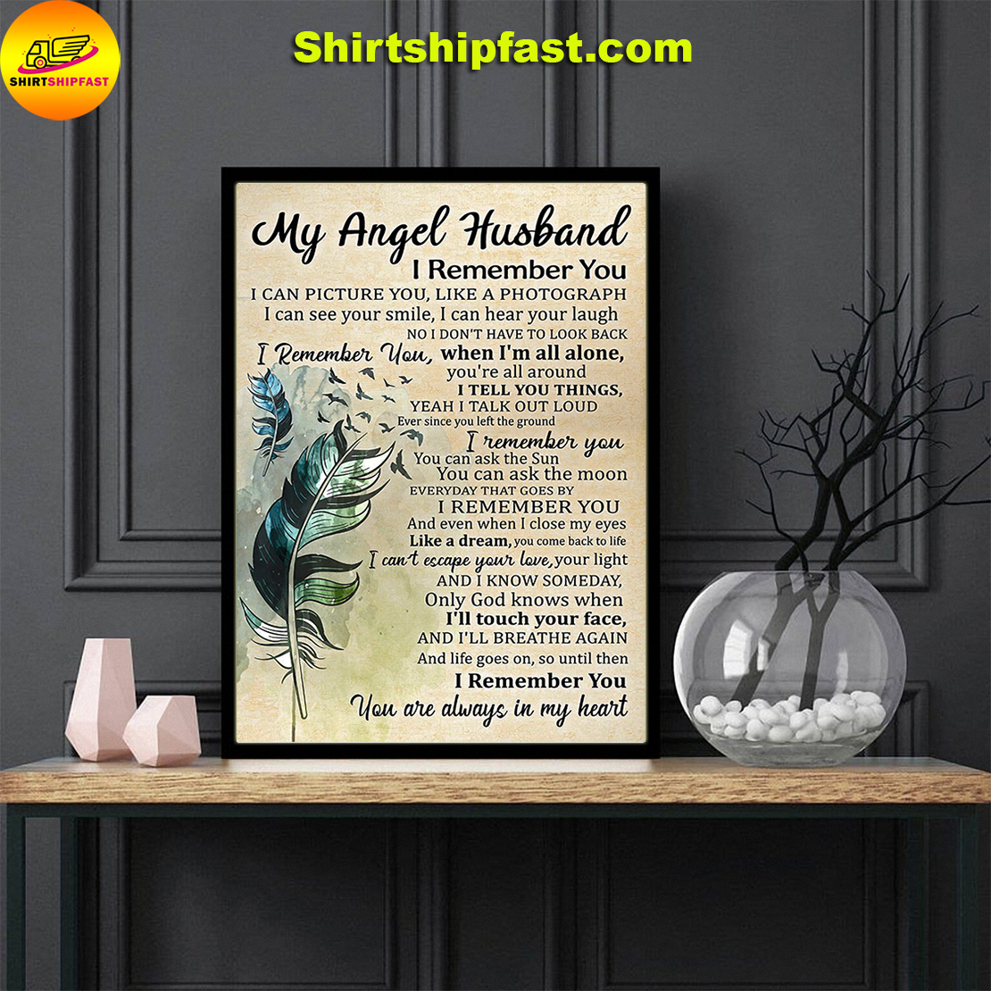 My Angel Husband I remember you I can picture you poster - Picture 2