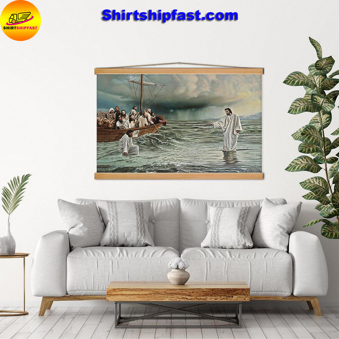 Noah's ark god jesus walks on water take my hand poster - Picture 3