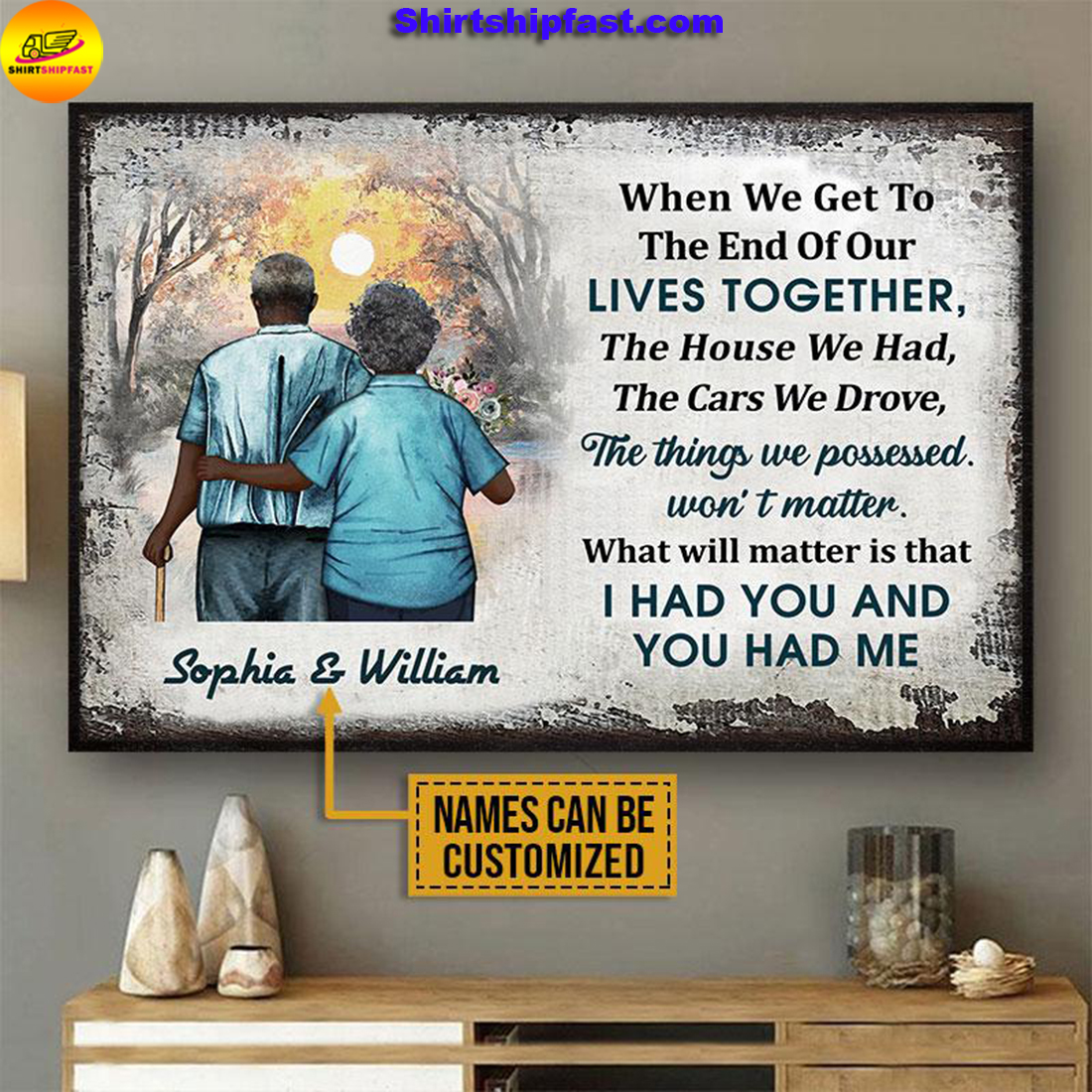 Personalized Africa old couple when we get custom poster