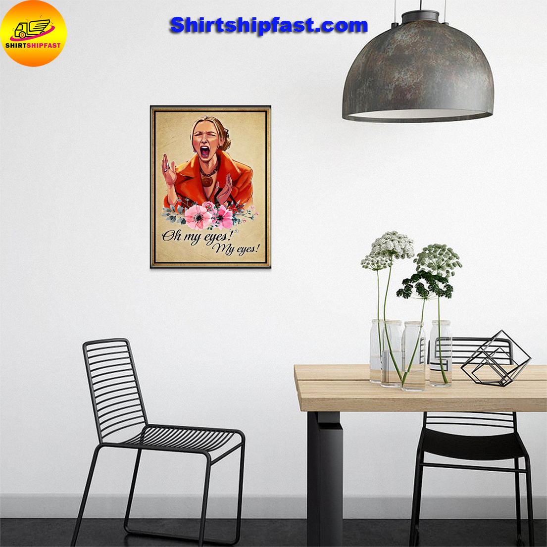 Phoebe buffay oh my eyes friends poster - Picture 1