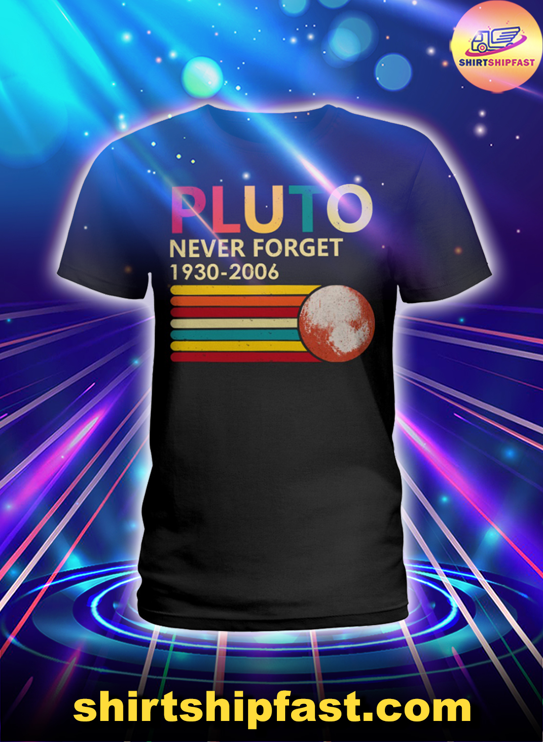 Pluto never forget 1930 2006 lady shirt
