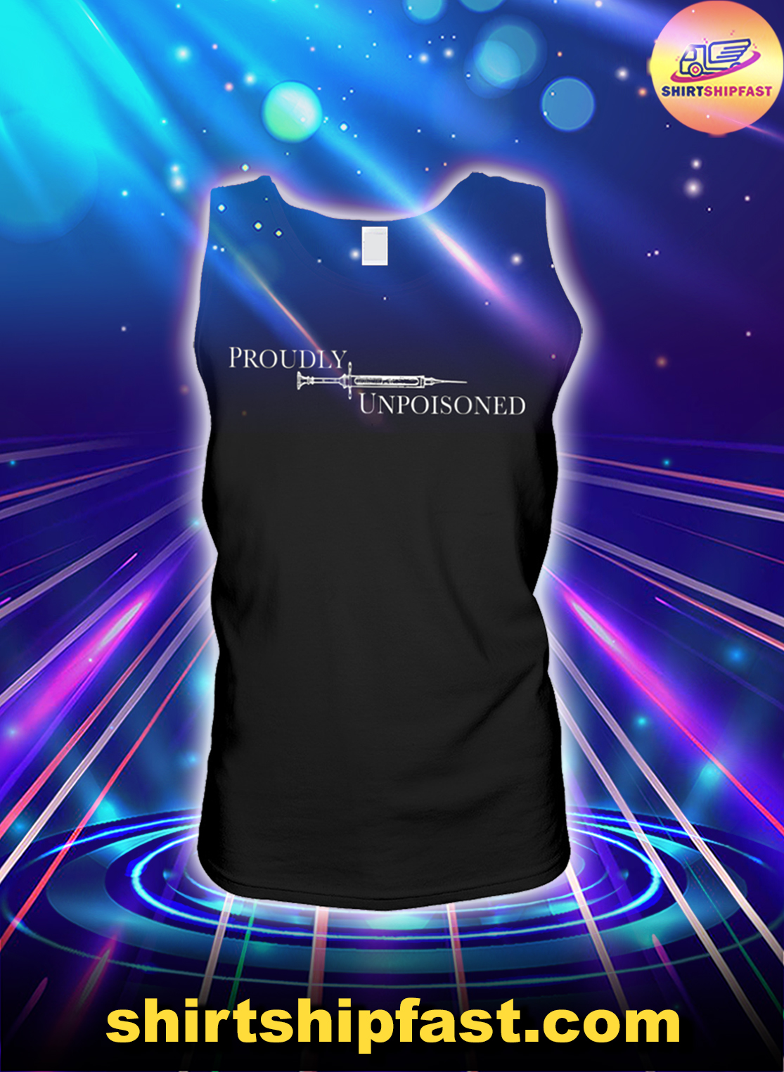 Proudly unpoisoned tank top