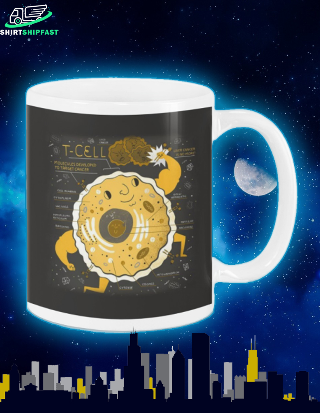 Science T-cell mug - Picture 2