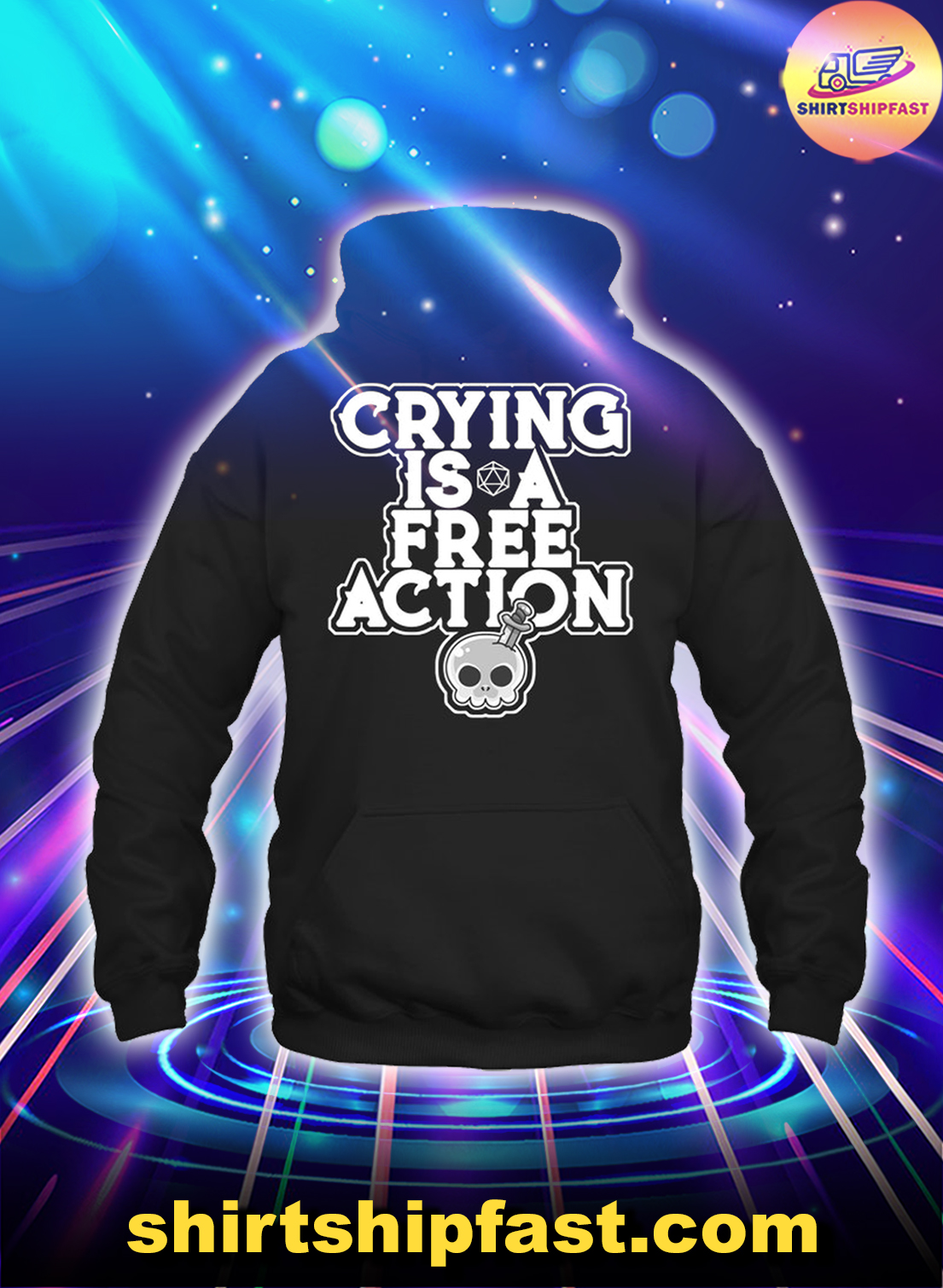 Skull Crying is a free action hoodie