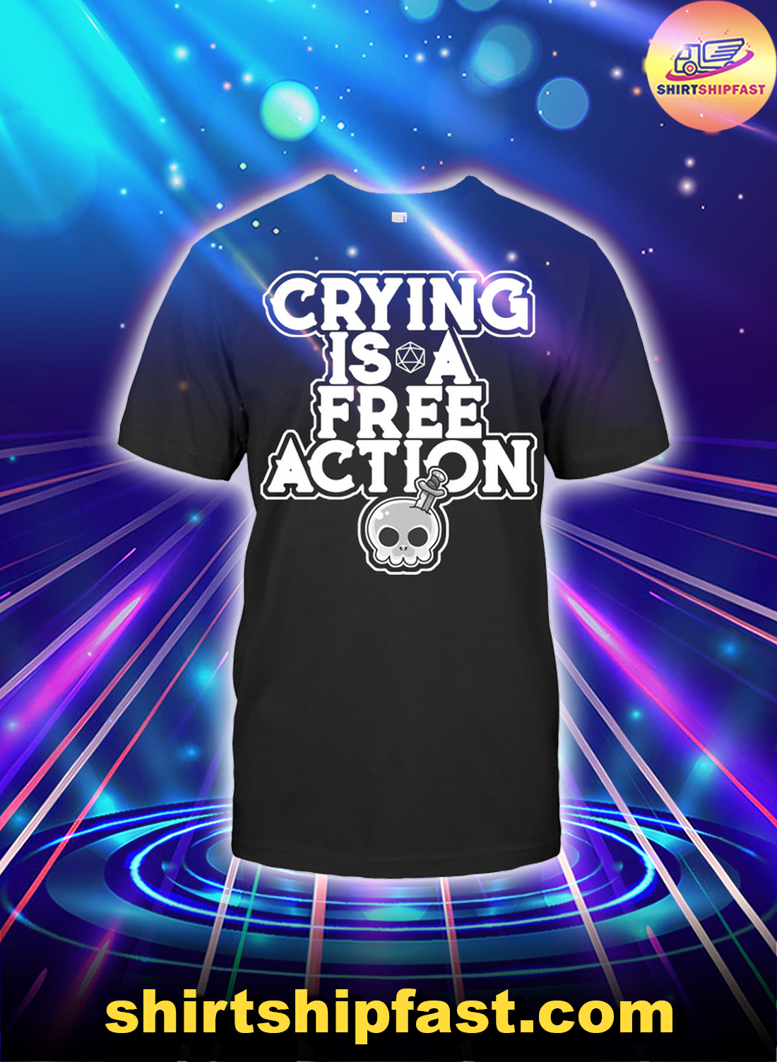 Skull Crying is a free action shirt