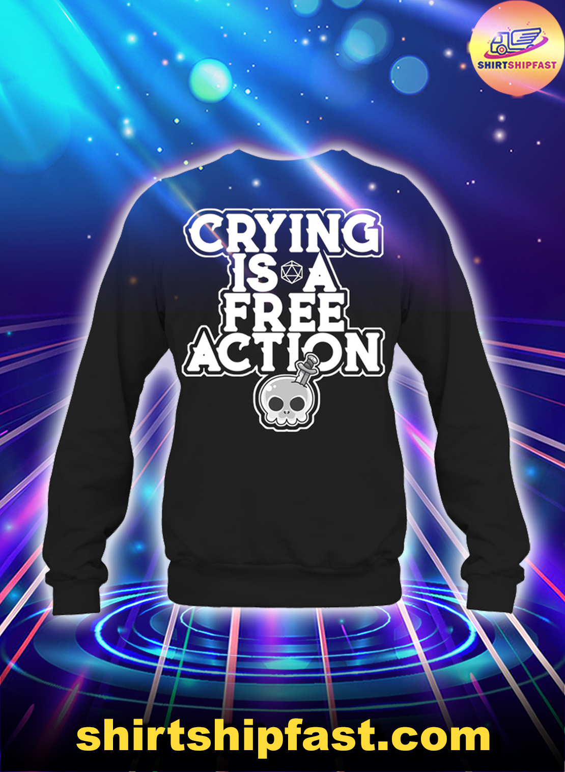 Skull Crying is a free action sweatshirt