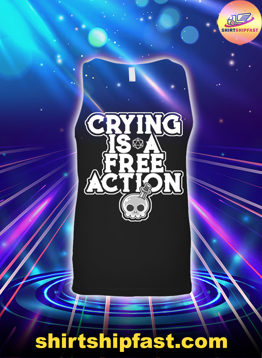 Skull Crying is a free action tank top