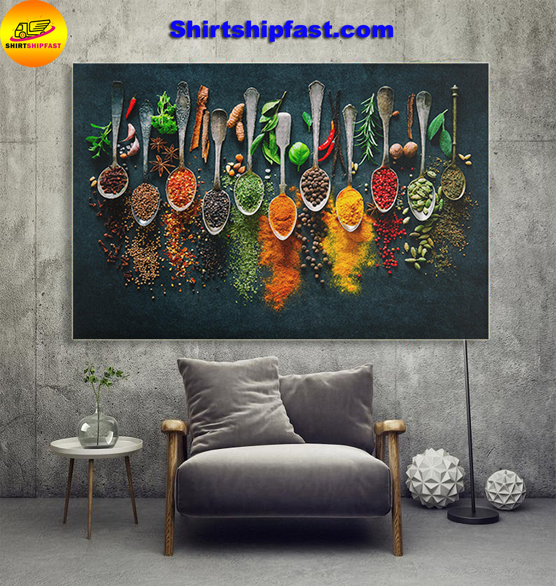 Spices cooking canvas - Picture 1