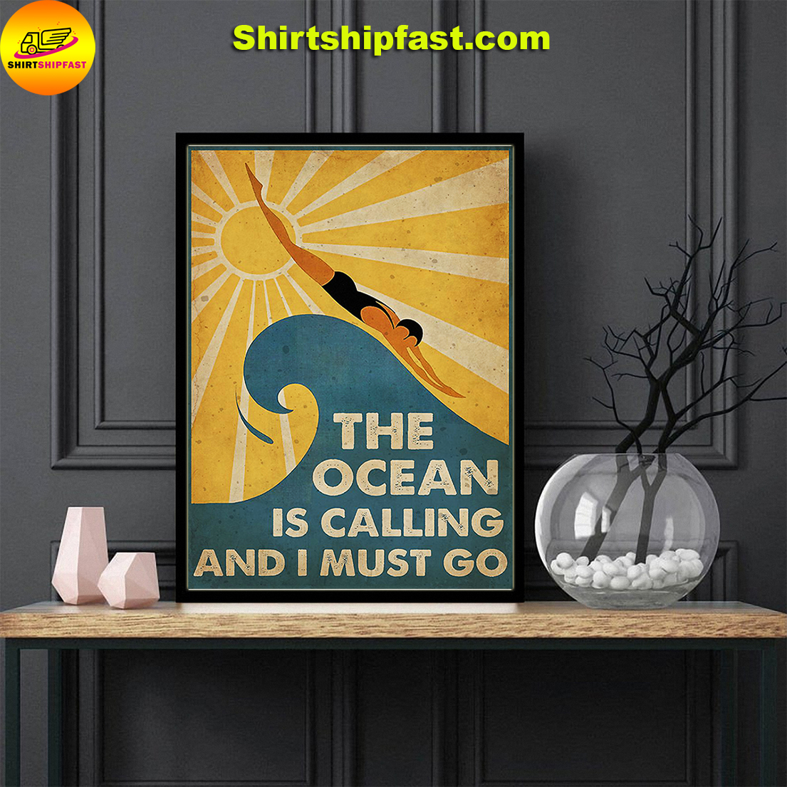 Swimming The ocean is calling and I must go poster - Picture 1