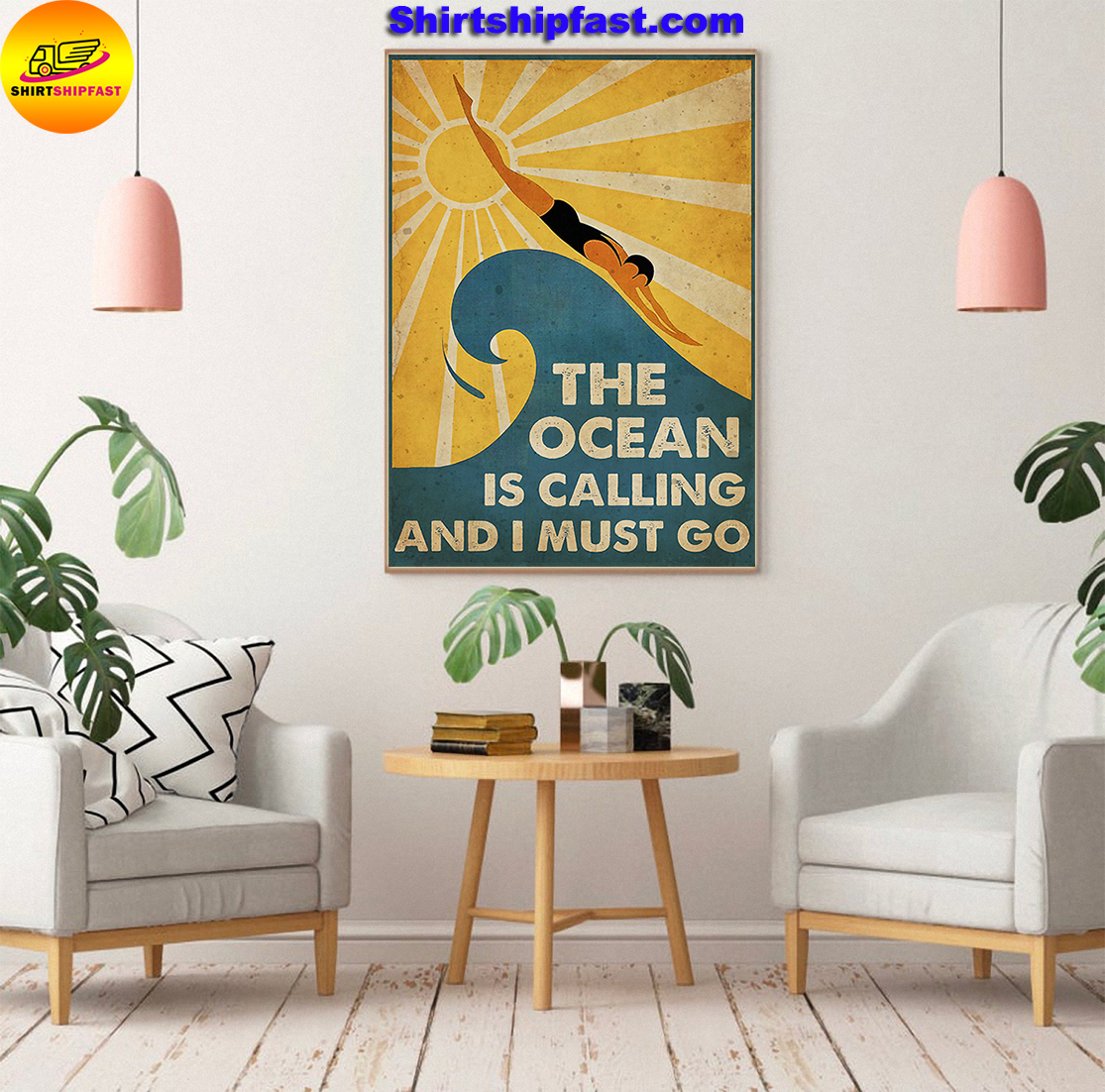 Swimming The ocean is calling and I must go poster - Picture 3