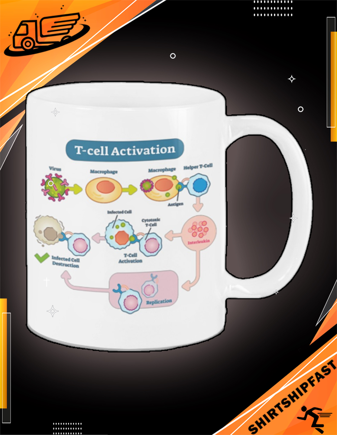 T-cell activation mug - Picture 2