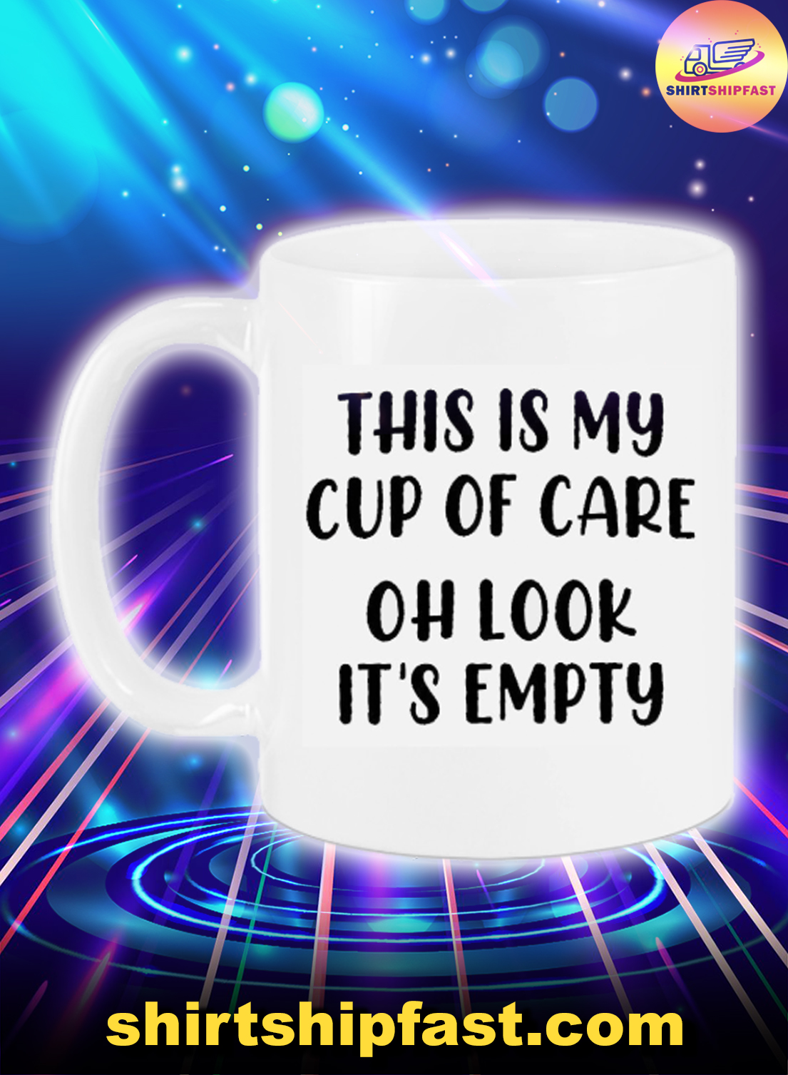 This is my cup of care oh look it's emty mug - Picture 1