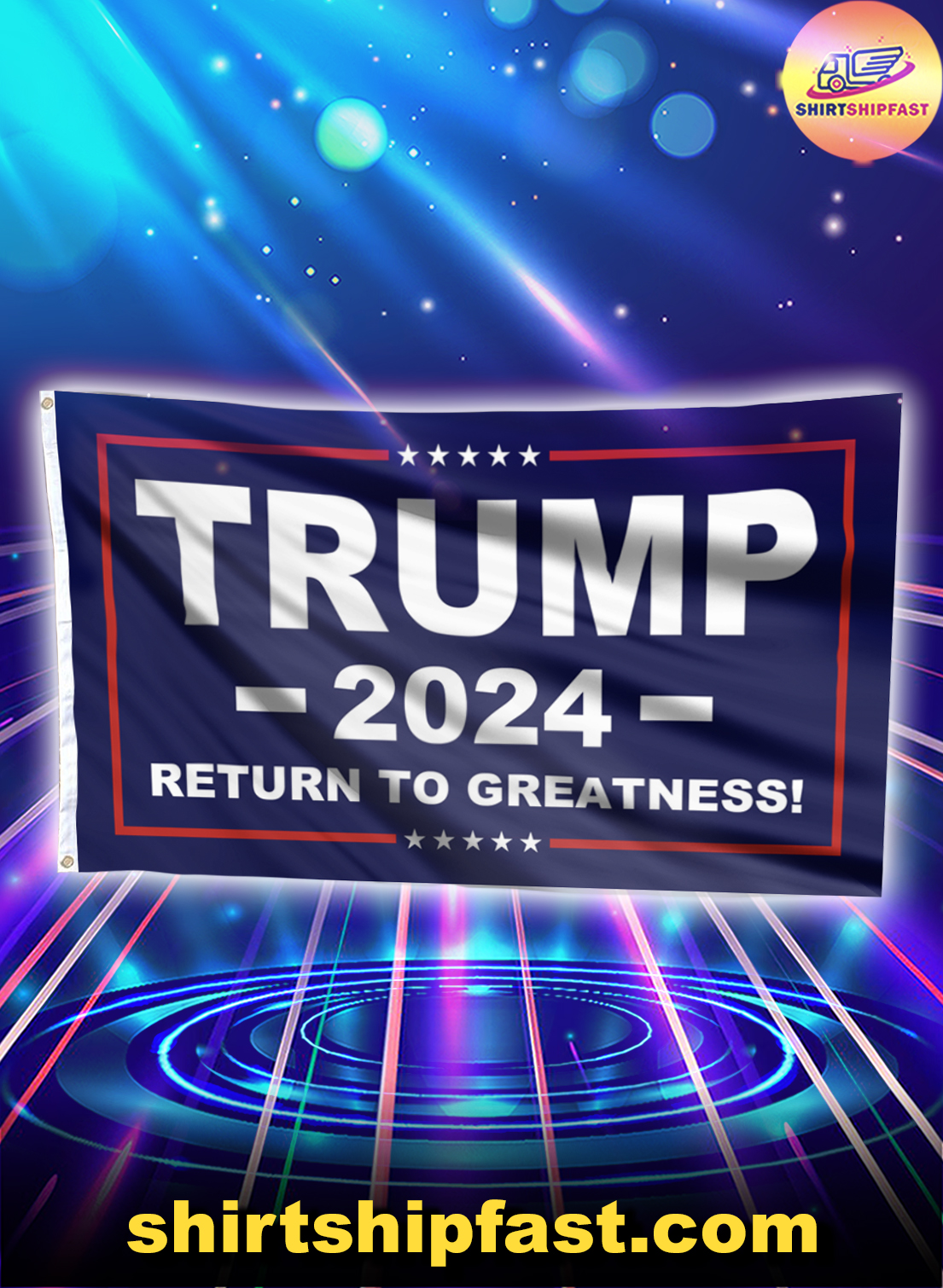 Trump 2024 return to greatness flag - Picture 1