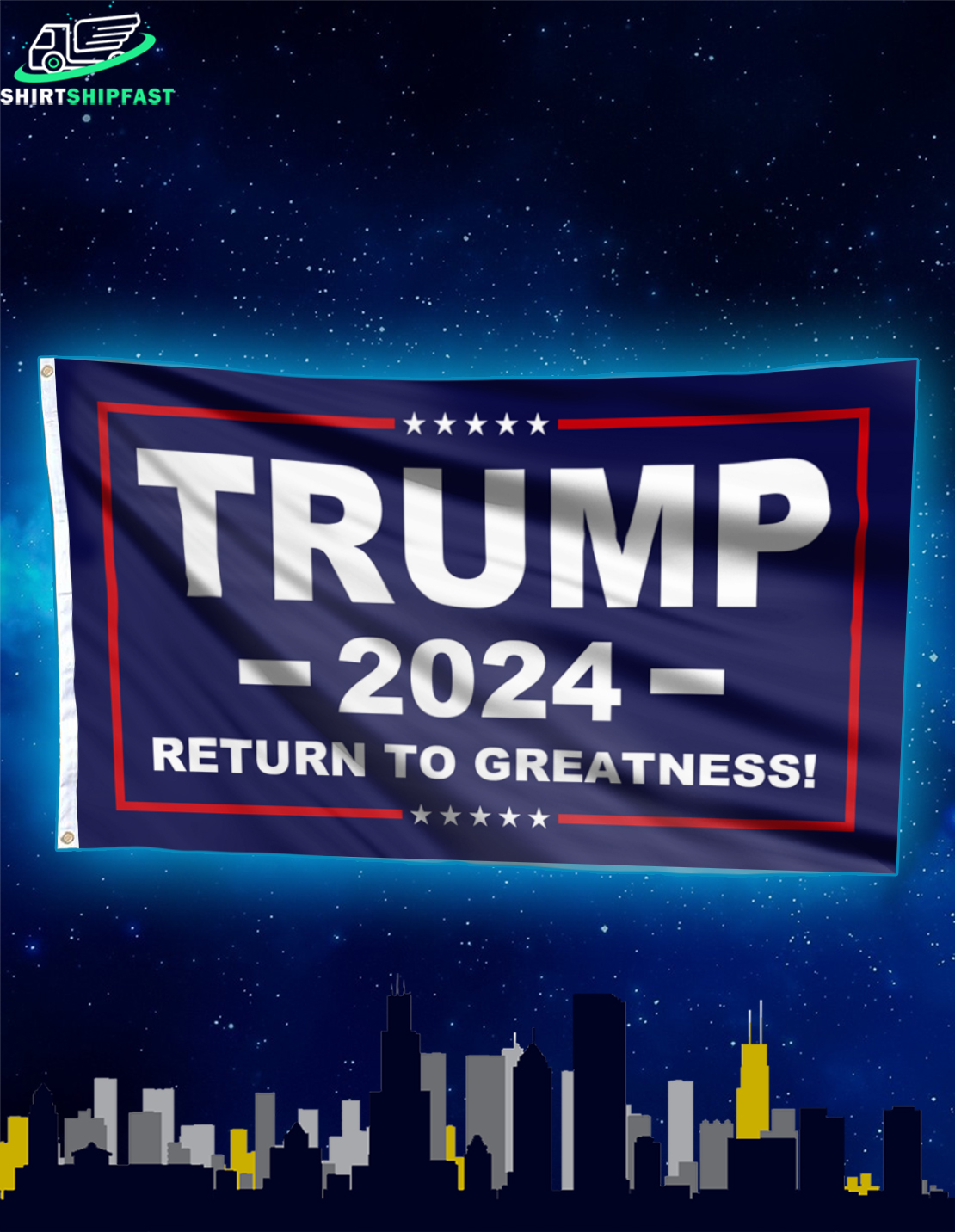 Trump 2024 return to greatness flag - Picture 2