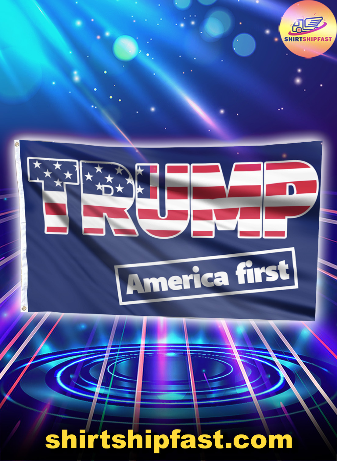Trump America first flag - Picture 1