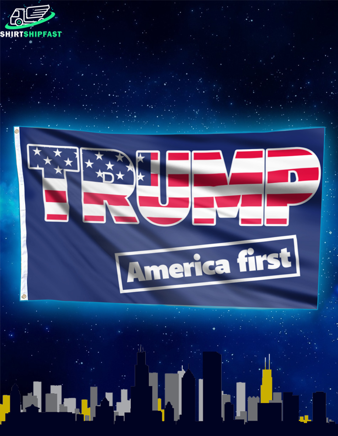 Trump America first flag - Picture 2