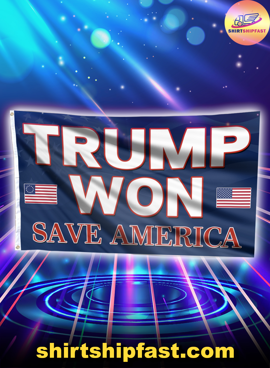 Trump won save America house and garden flag - Picture 1