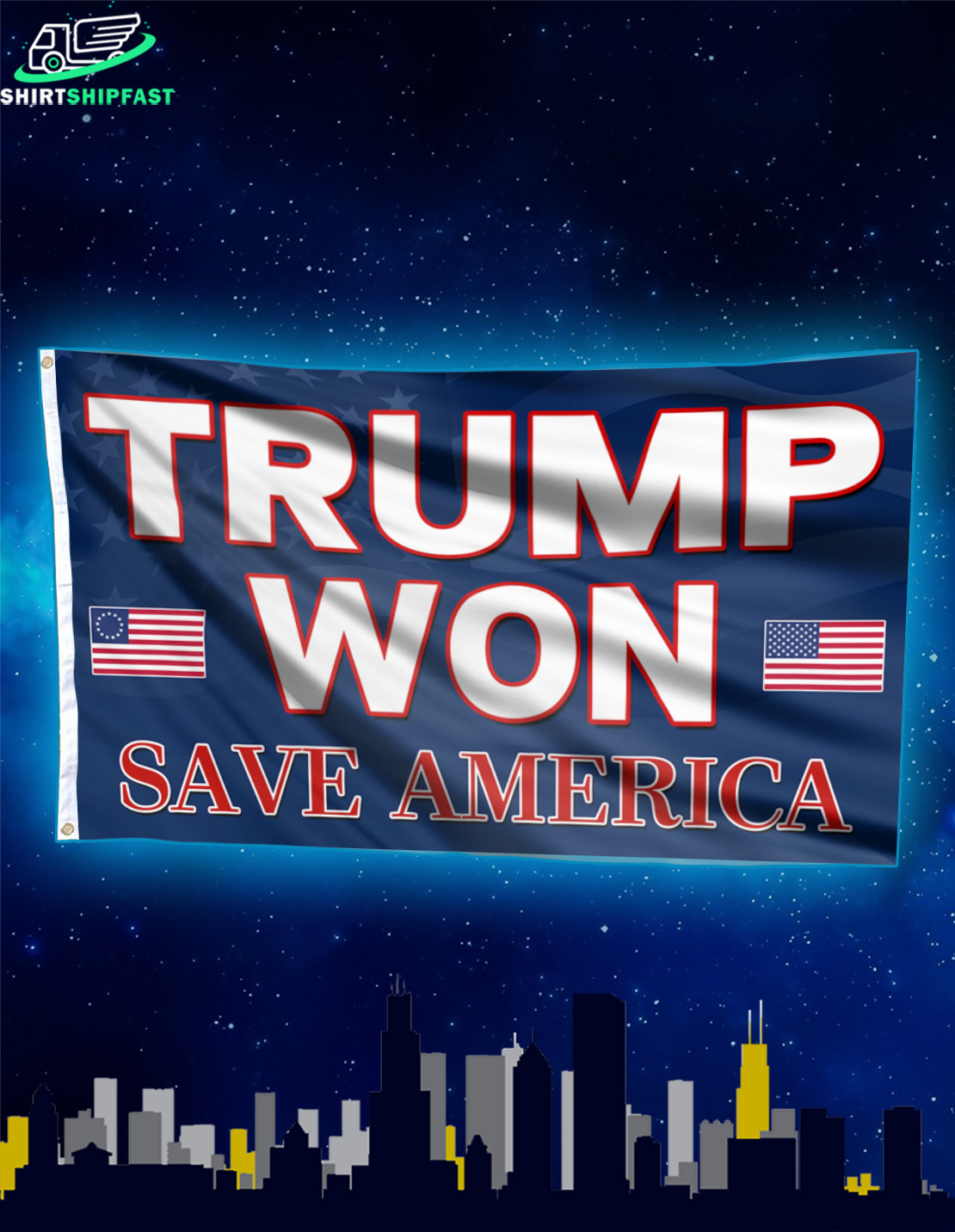 Trump won save America house and garden flag - Picture 2