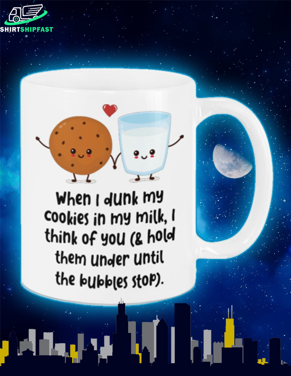 When I drunk my cookies in my milk I think of you mug - Picture 2