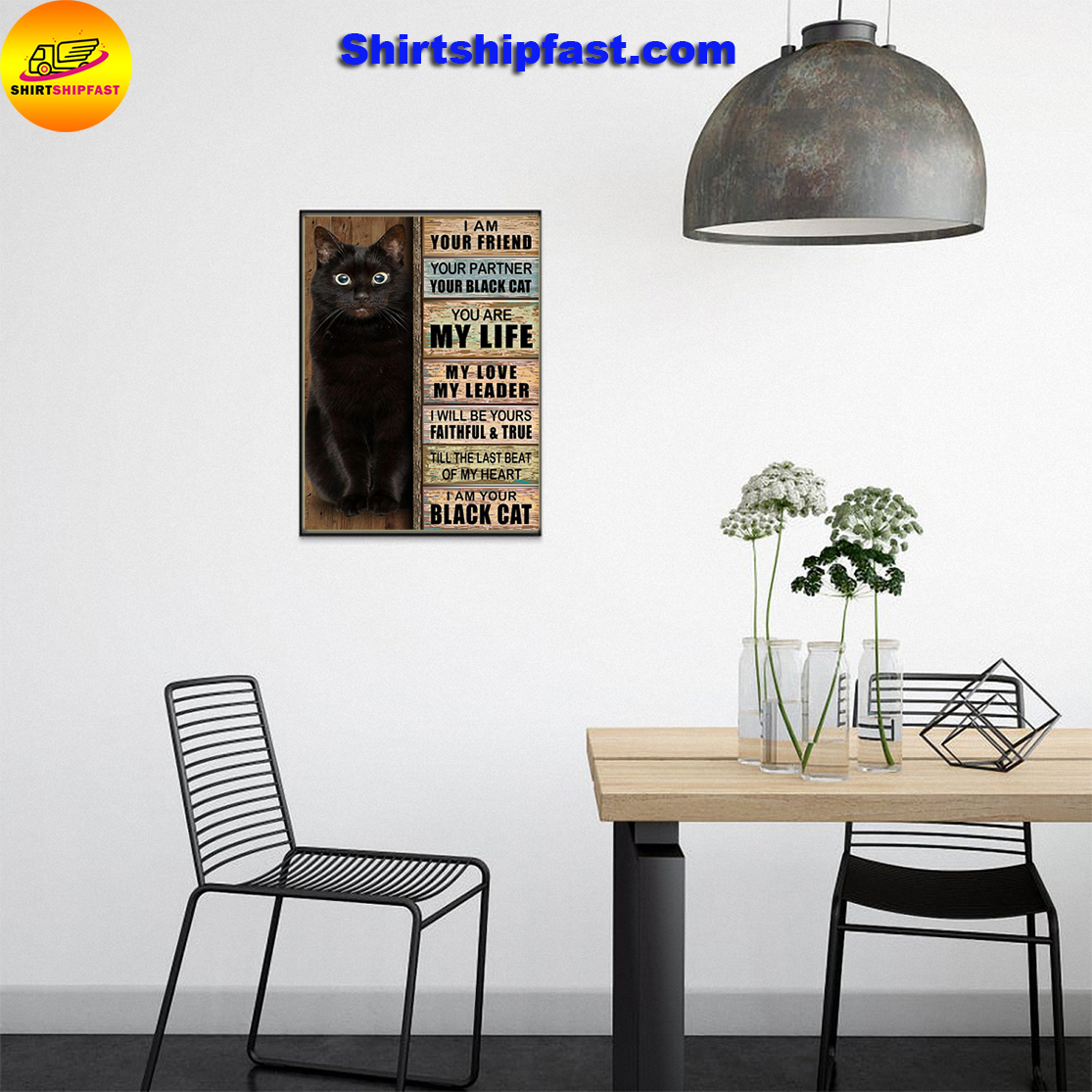 Your friend your partner your black cat poster - Picture 3