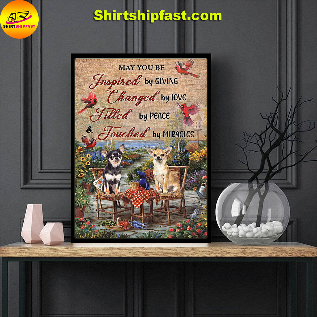 Cardinal Chihuahua May you be touched by miracles poster
