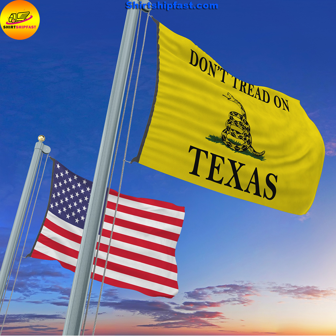 Don't tread on Texas flag - Picture 1