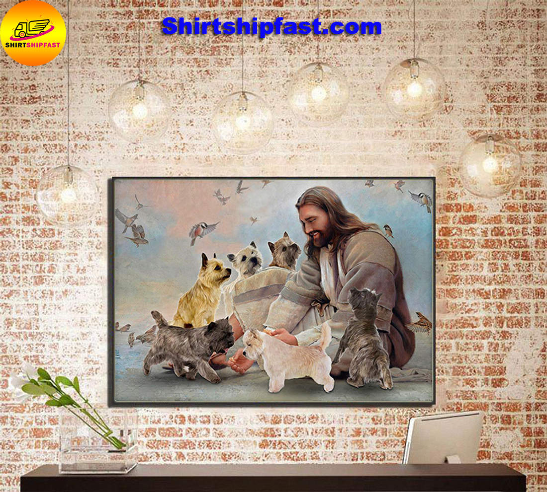 God surrounded by Cairn Terrier angels gift for you poster