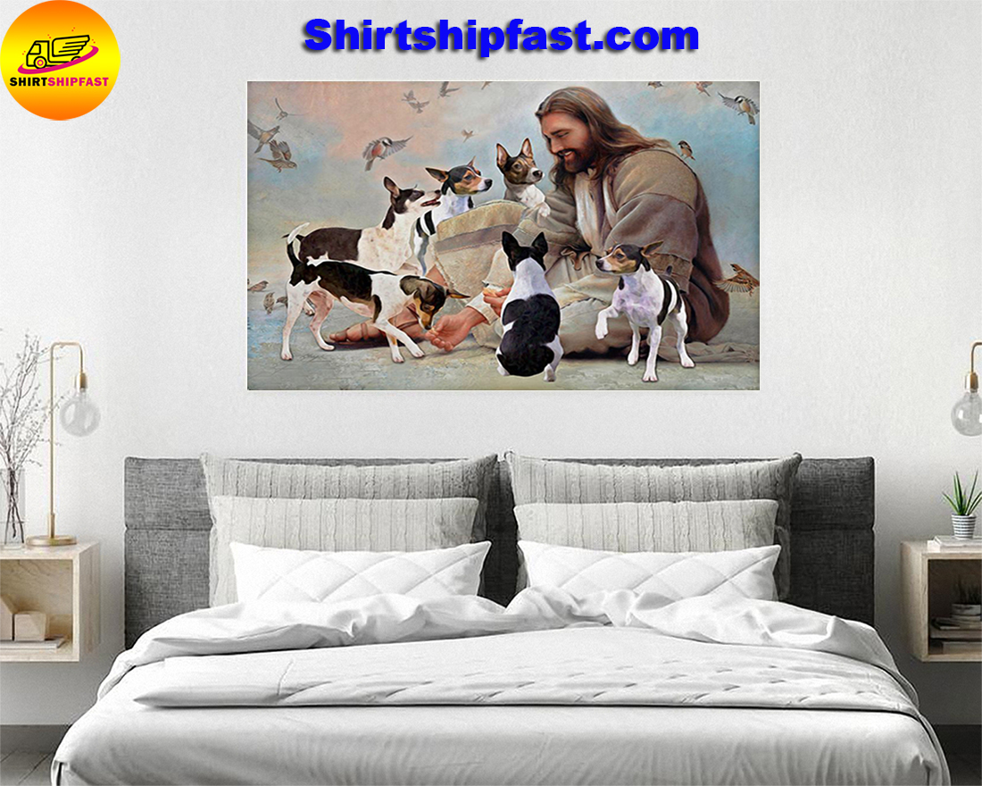 God surrounded by Rat Terrier angels gift for you poster
