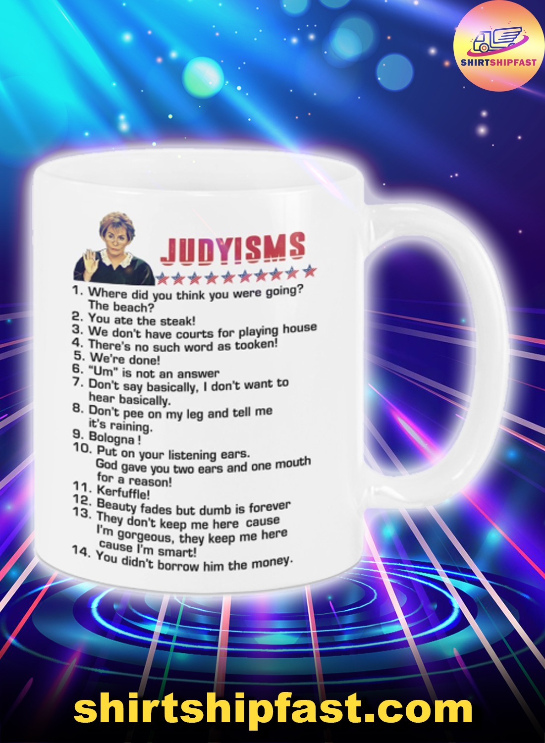 Judyisms Where did you think you were going the beach mug