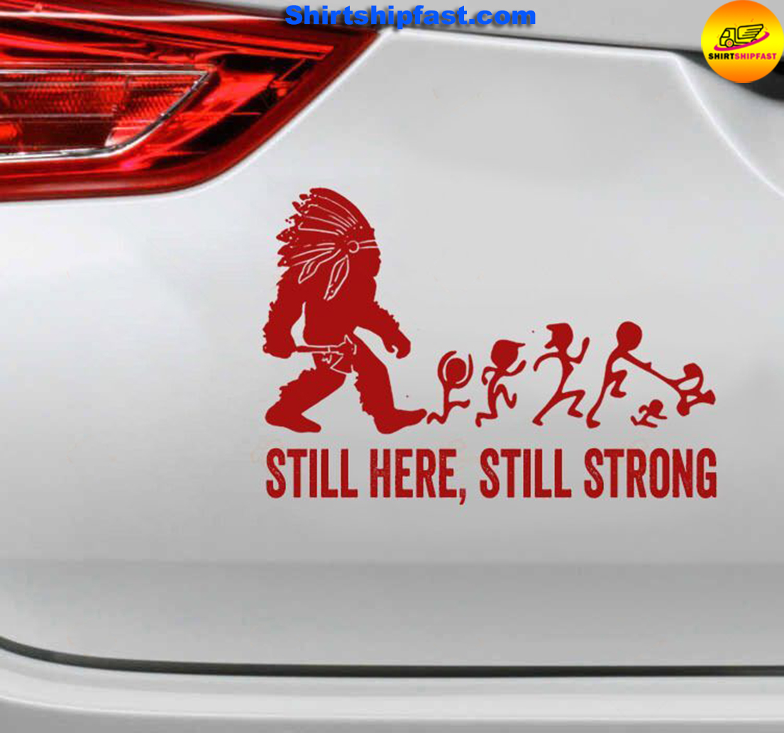 Native American Still here still strong car sticker - Picture 1