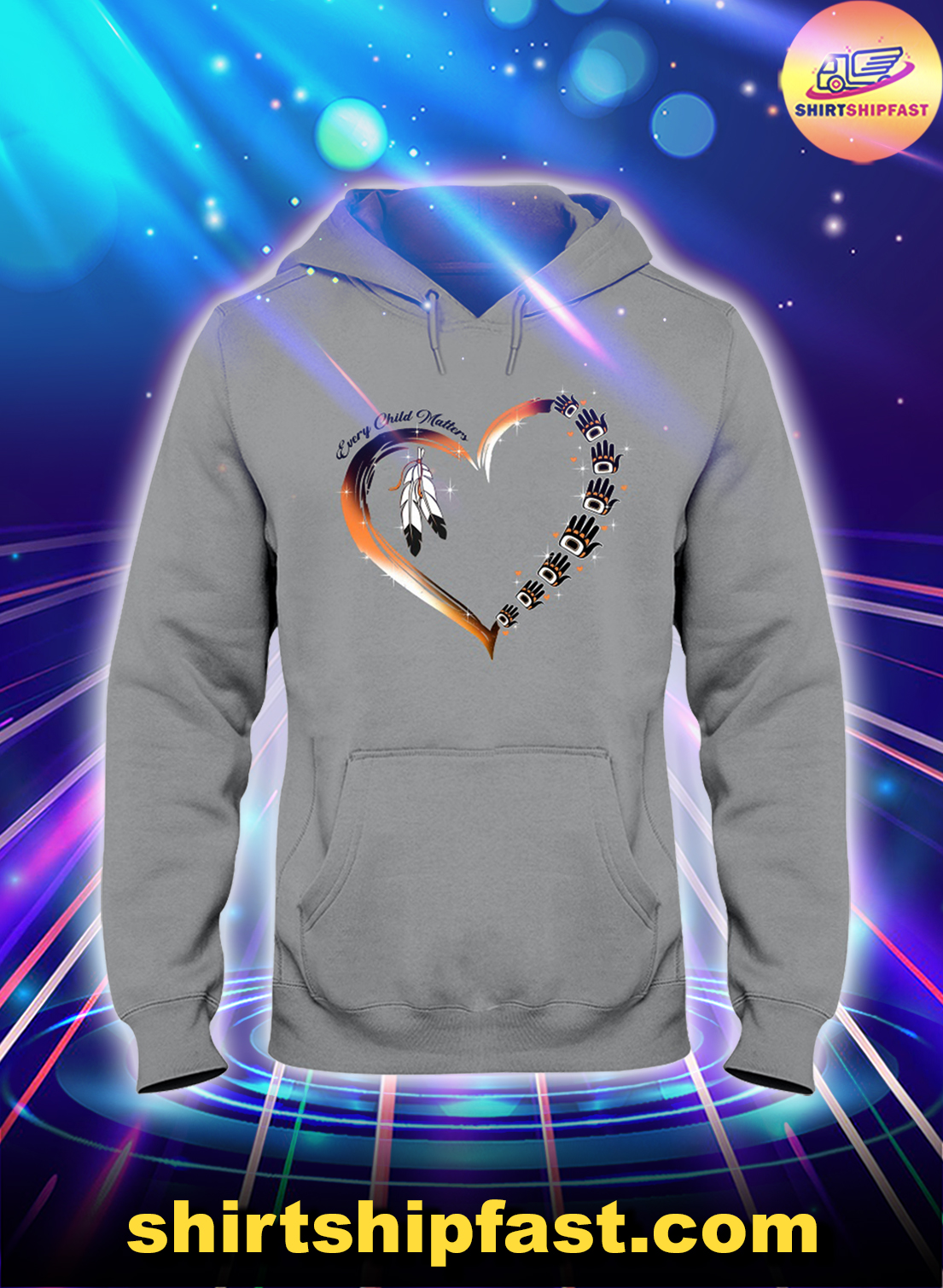 Native American heart Every child matters hoodie