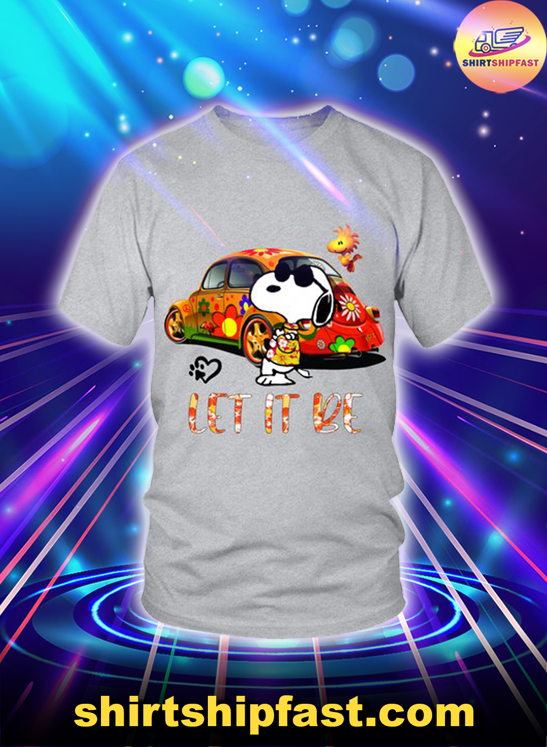 Peanuts Snoopy Let it be shirt